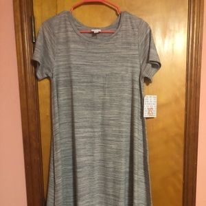 NWT Size XS Lularoe Carly Dress. Grey heather